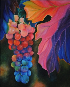 Grapes - Make A Wish Painting